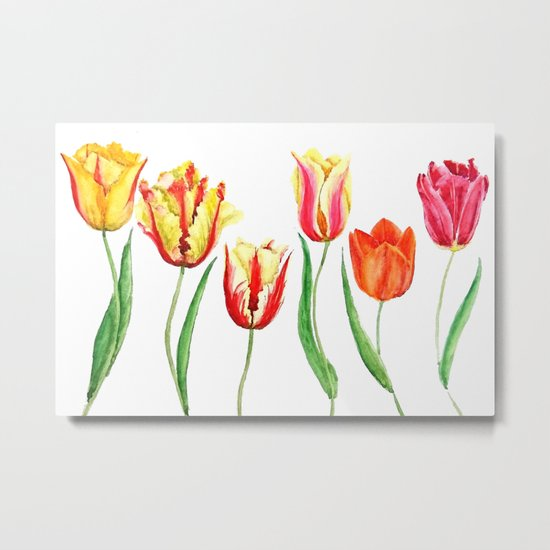 colorful tulips Metal Print
