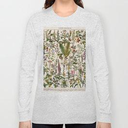 Adolphe Millot - Plantes Medicinales B - French vintage poster Long Sleeve T-shirt