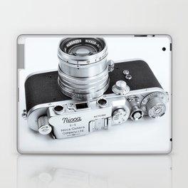 1950s Nicca 3-S 35mm Film Camera in Black & White Laptop & iPad Skin