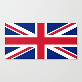 Union Jack, Authentic color and scale 1:2 Canvas Print