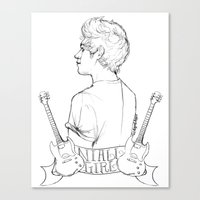 niall Canvas Prints featuring Niall Girl by Ashley R. Guillory