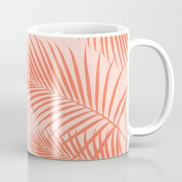 Coral Palms ~ Summer Tropical Pattern Coffee Mug