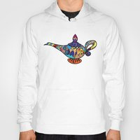 aladdin Hoodies featuring Looking for the genie by Ilse S