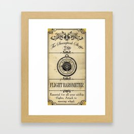 Steampunk Apothecary Shoppe - Barometer Framed Art Print