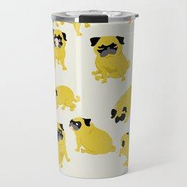 Good Vibes With Nasty The Pug Travel Mug