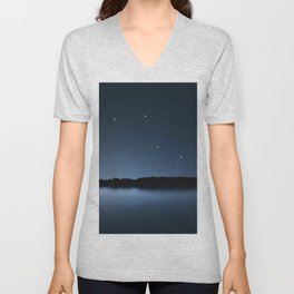 Caelum star constellation, Night sky, Cluster of stars, Deep space, Chisel constellation Unisex V-Neck