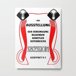 Retro vintage Wiener Vienna Secession exposition Metal Print