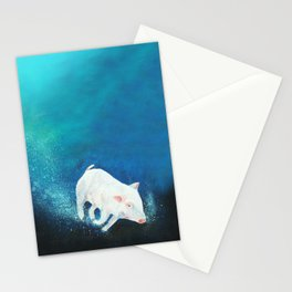 Swimming Piggy Stationery Cards