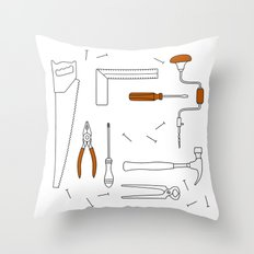 Carpenter Tools Throw Pillow