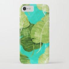 Watercolor leaf iPhone 7 Slim Case