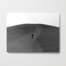 Moon Surface // Hiking up the Black Hills in a Desolate Landscape Metal Print