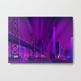 Synthwave Neon City #9 Metal Print