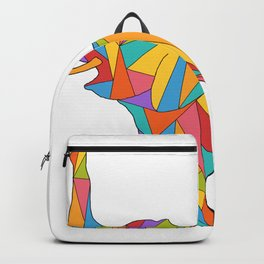 Big, bright, and colorful elephant - polychromatic animal Backpack