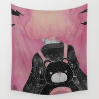 loll3 Wall Tapestries featuring T e d d y  by lOll3