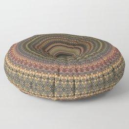 Vintage Bohemian Mandala Textured Design Floor Pillow
