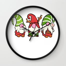 Merry Gnomemas Christmas Decorator Gift Wall Clock