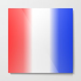 Red White and Blue Stripes Metal Print