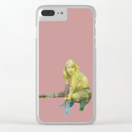 Woman Gone Rogue Clear iPhone Case