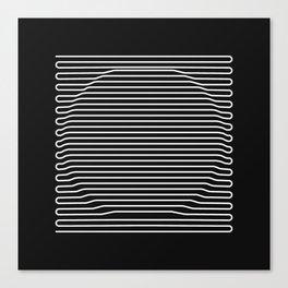 Circle over black Canvas Print