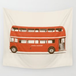 Red London Bus Wall Tapestry