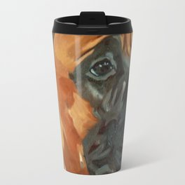 Finnly the Bull Mastiff Dog Portrait Travel Mug