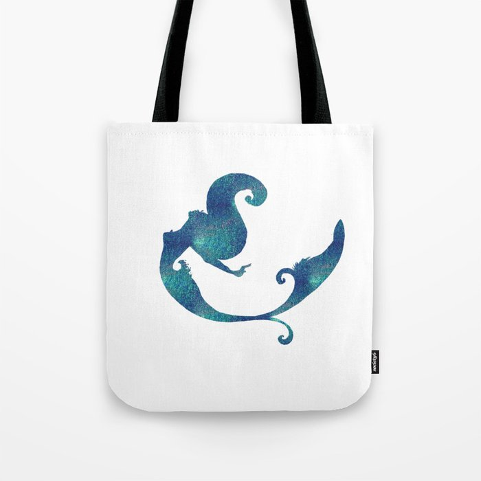 Azure mermaid Tote Bag