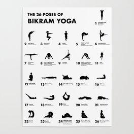 26 bikram yoga poses poster  yogawalls