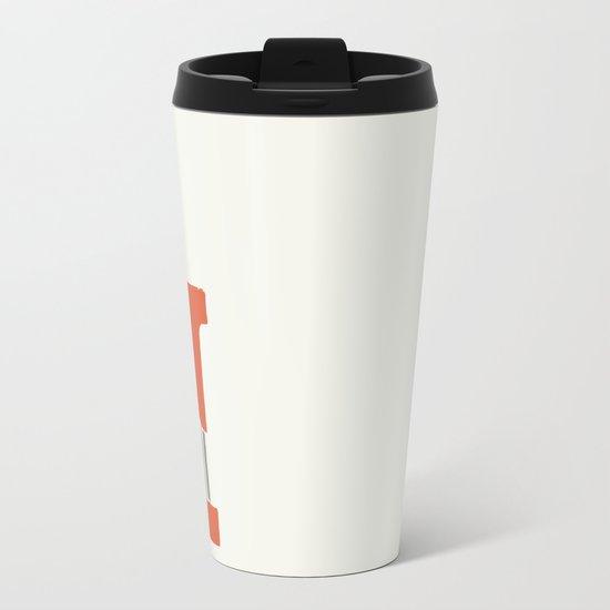 M Lettering Travel Mug