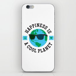 Happiness Is A Cool Planet iPhone Skin