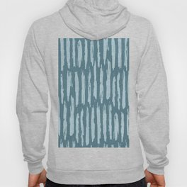 Vertical Dash Turquoise on Teal Blue Hoody