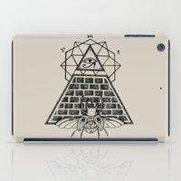 pyramid iPad Cases featuring Pyramid by alesaenzart