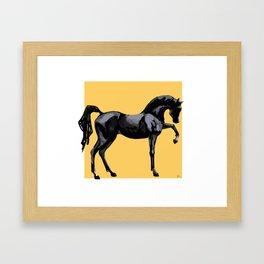 'Black Horse' Framed Art Print