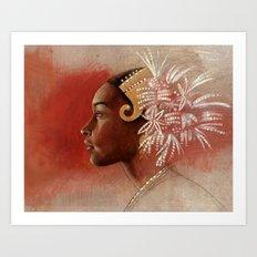 Tembleques  Art Print