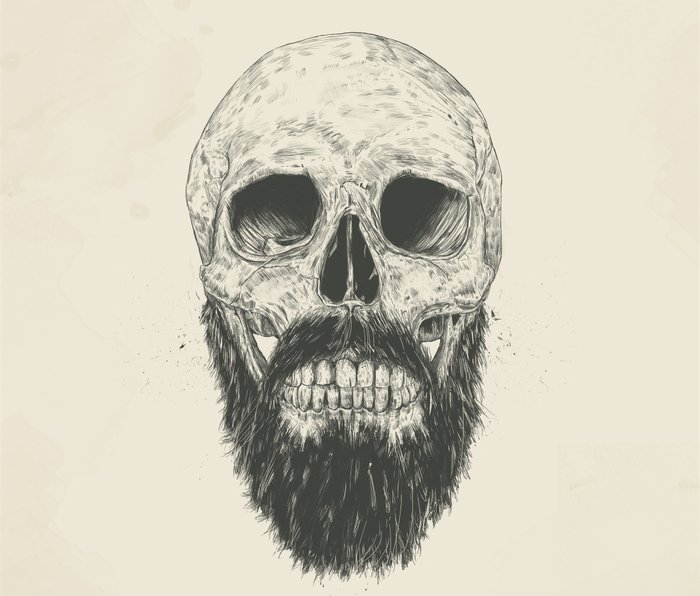 The beard is not dead Metal Travel Mug