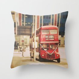 London Vintage Throw Pillow