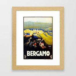 1920s Bergamo Italy travel Framed Art Print