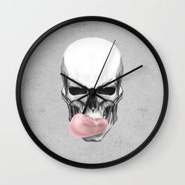 Skull chewing bubblegum Wall Clock
