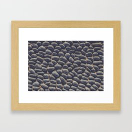 Black Pebble Framed Art Print