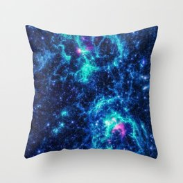 Twin Nebula Throw Pillow