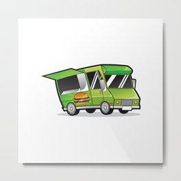 Food Truck Logo Metal Print