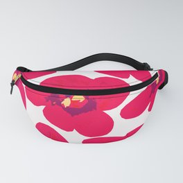 Red Retro Flowers #decor #society6 #buyart Fanny Pack