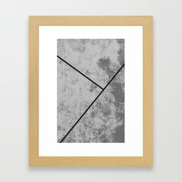 Concrete Textura Framed Art Print