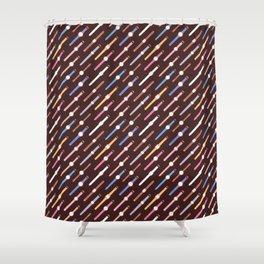 My colourful Watches - Dark Shower Curtain