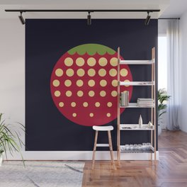 strawberry || russian black Wall Mural