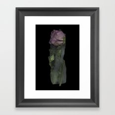 Melting Rose Framed Art Print