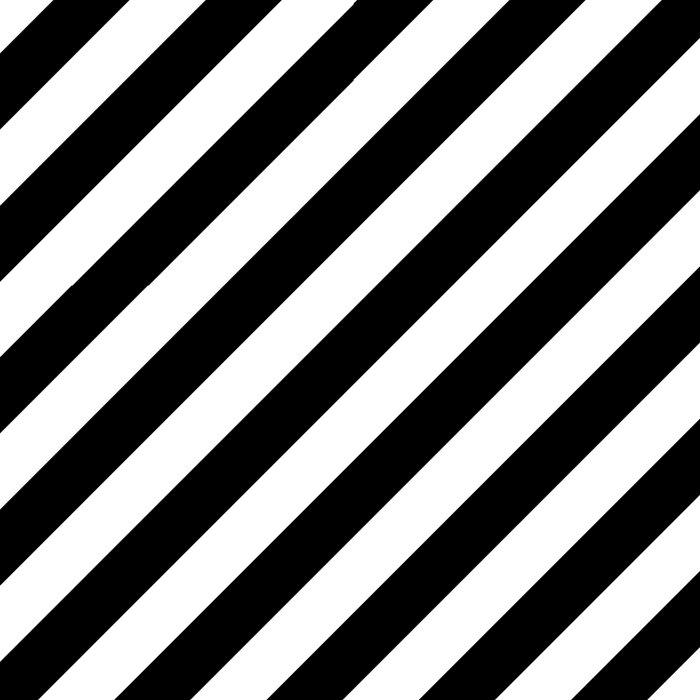 Diagonal Stripes (Black/White) Comforters