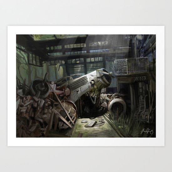 Crash Landing Art Print
