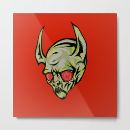 Red Eyes Demon Metal Print