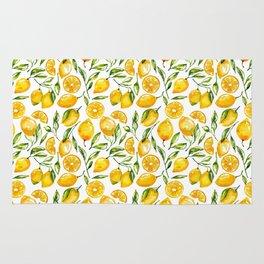 sunny lemons print Rug