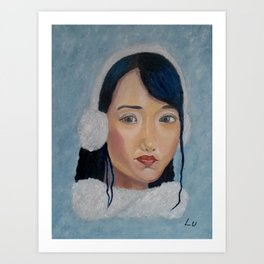 Winter Beauty by Lu Art Print